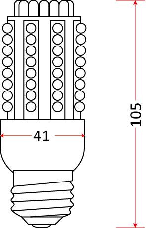 Żarówka LED-CAN-80 x LED E27 CB